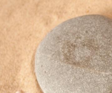 pebble and sand