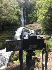 Behind the scenes at the waterfall