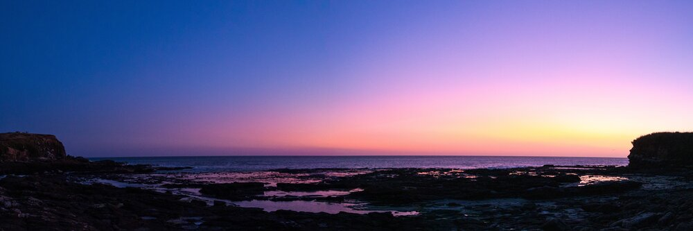 Sunset at Curio Bay