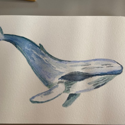 My whale painting