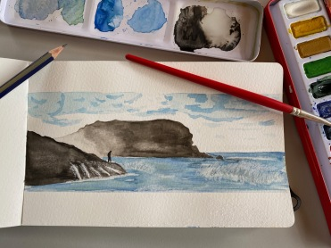 4 A watercolour seascape