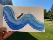 4 Boat and wave painting