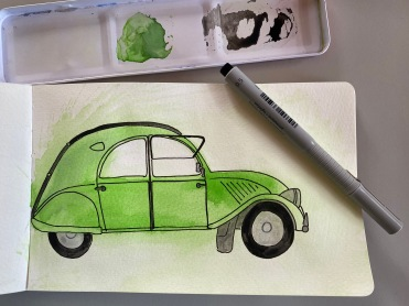 6 A painting of my Dad's favourite car