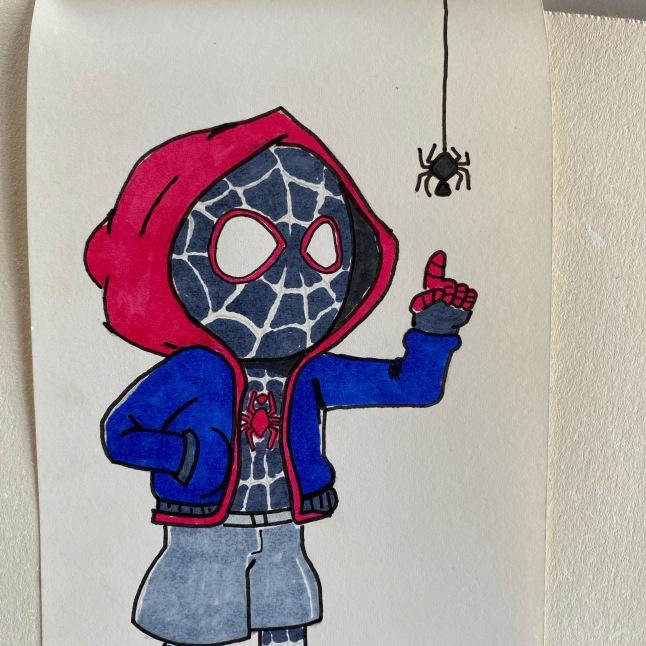 11 Spider-Man Chibi drawing