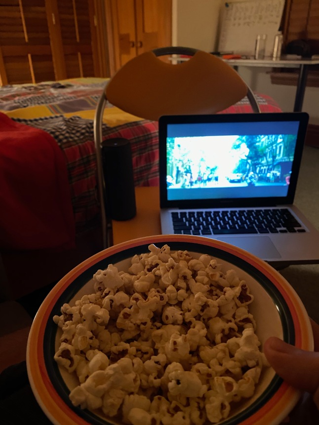 13 Popcorn and a film