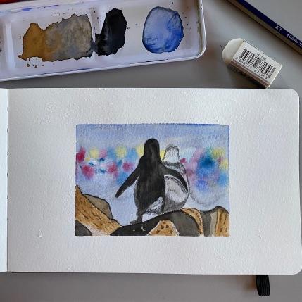8 Penguins in love