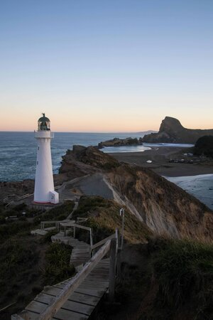 Castlepoint Lighthouse at Sunset