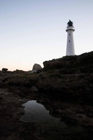 Reflections at Castlepoint Lighthouse.