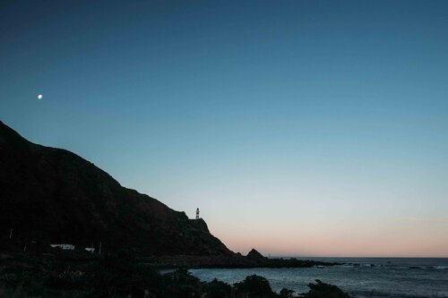 Cape Palliser Lighthouse at Sunset