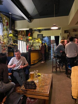 A view of the bar at Little Beer Quarter.