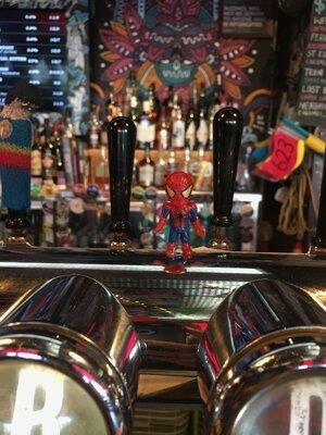 Spider-man at Rogue and Vagabond.